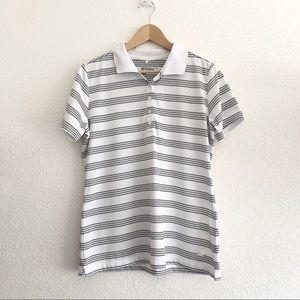 Nike dri fit Mens polo shirt stripes size L